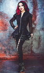 Necessary Evil Lucina Mesh and Leatherette Jacket